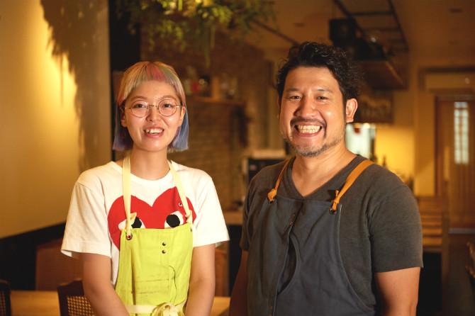 オーナーシェフの吉国信輔さんと調理担当で料理センスが際立つ和多田萌さん